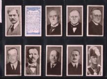 Tobacco Cigarette cards The 1924 Cabinet 1924